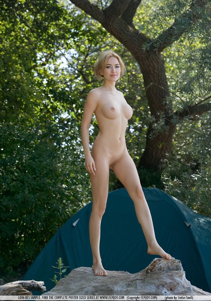Nackte Camper