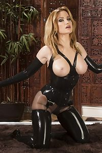 Angela sommers latex goddess